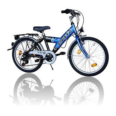 Delta Kinderfahrrad 20 Zoll Fahrrad 6 Gang Shimano 018Blau