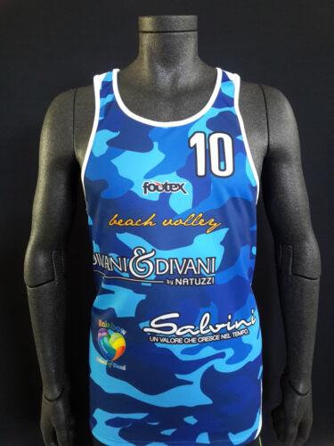 FOOTEX Canotta Beach Volley CAMOUFLAGE Sconti Squadre/Società Bluette/Azzurro