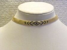 LUCKY BRAND NECKLACE NUDE BEADED CHOKER WITH SLIDE KNOT CLOSURE, NWT