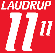 Denmark Laudrup Nameset 2000 Shirt Soccer Number Letter Heat Print Football Home