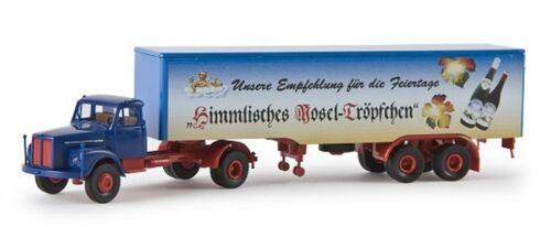 """Brekina 85126-1//87 Scania L 110 Koffer-Sz /""""Himmlisches Moseltröpfchen/"""" Neu"""