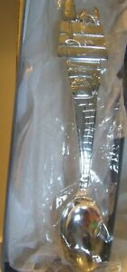 Lunt Peanuts Snoopy Child Baby Infant Feeding Spoon Set 3-Piece Silverplate New