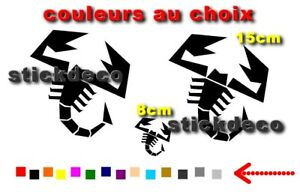 Abarth Scorpion Adhesifs Vinyl Decals Stickers X3 Autocollant Sticker Belle En Couleur
