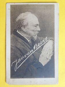 cpa-RARE-Portrait-Signature-de-Jan-van-BEERS-1821-1888-Anvers-POETE-FLAMAND