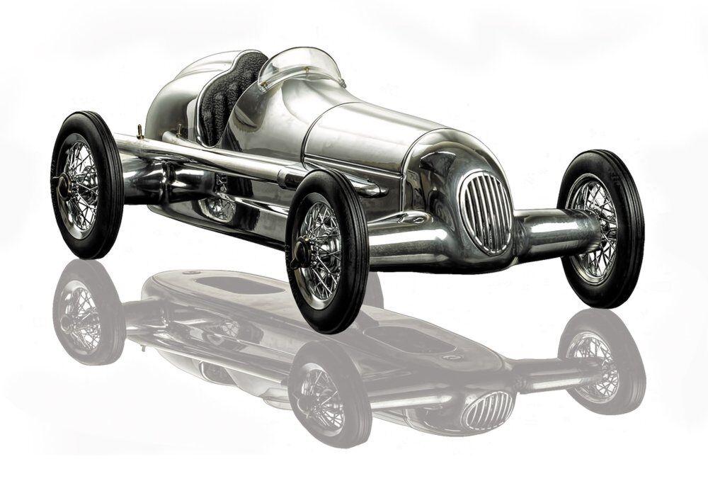 G642  Mercedes Argent Flèche w25 modèle voitures de course, SPINDIZZY modèle voiture