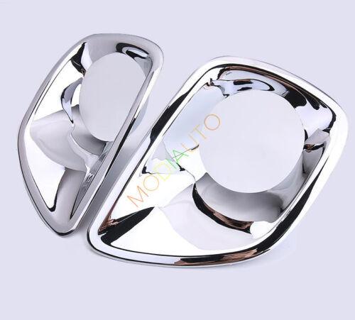 2pcs For TOYOTA RAV4 2013 2014 2015 ABS Chrome Front Fog Light Lamp Cover Trim