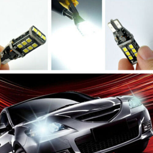 2pcs Set 1400 Lumens T10 High Power 15W LED White Backup Reverse Light Bulb High