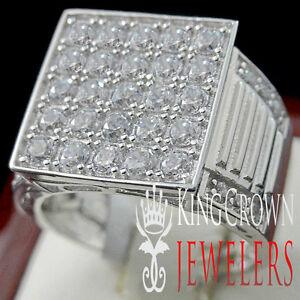 Details Zu Damen 10k Weiß Gold Auf Echtes Silber Künstlicher Diamant Hochzeit Verlobung