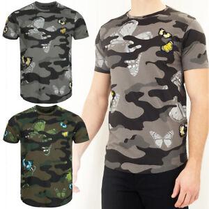Details zu BRAVE SOUL London Canopus Herren Camouflage Crew Neck T Shirt S M L XL Tee Shirt