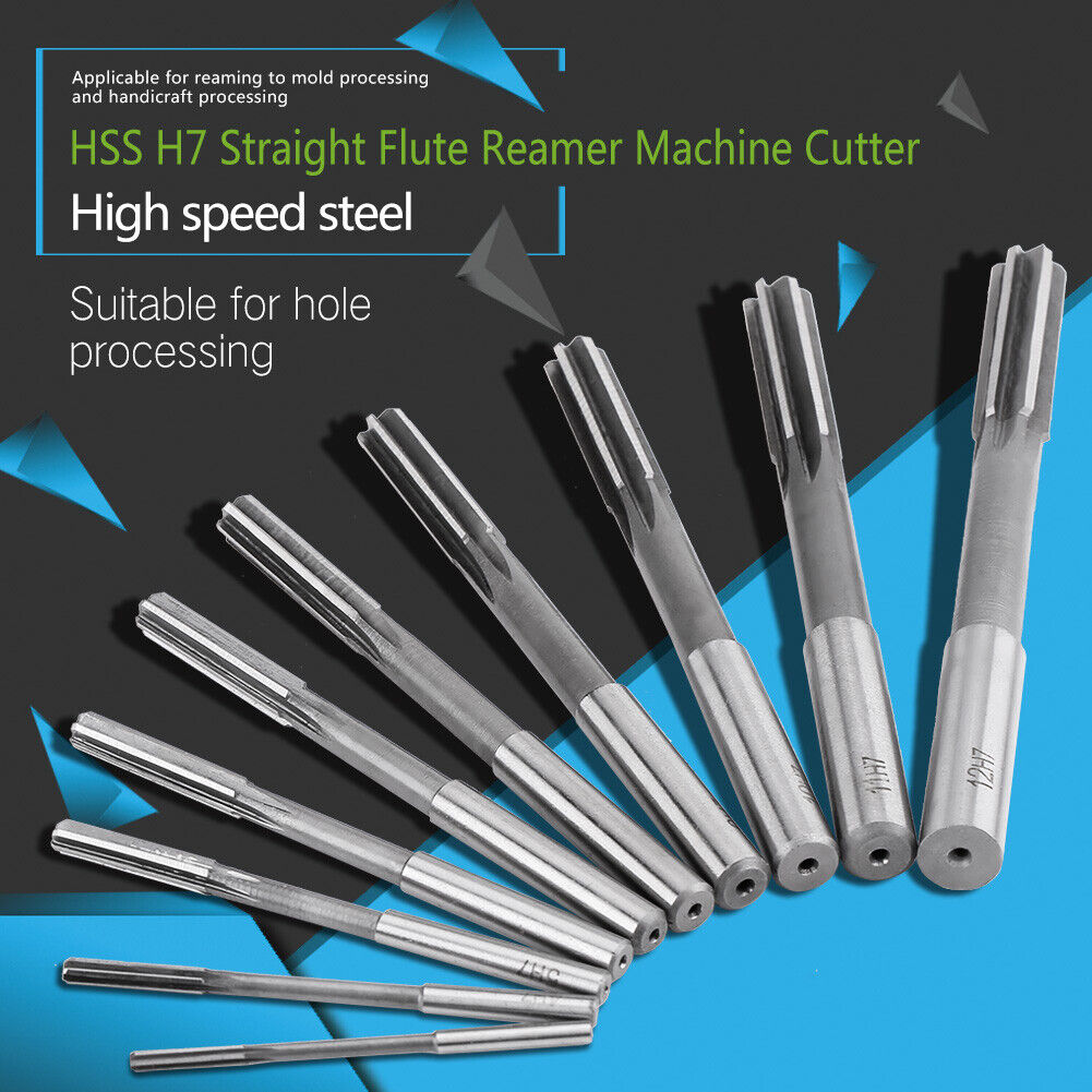 Select Size 7.0mm to 12.9mm H7 Straight Shank Hand Reamer DORL/_A