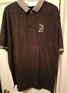 GUC-1998-Warner-Bros-Store-Marvin-The-Martian-Navy-Golf-S-S-Shirt-Men-039-s-sz-L-VTG