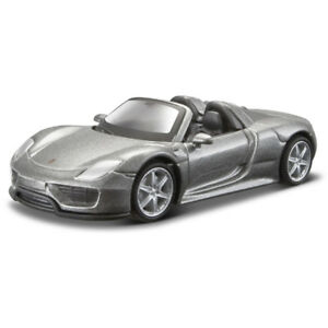 Burago-1-64-Porsche-918-Spyde-Coche-de-juguete-Diecast