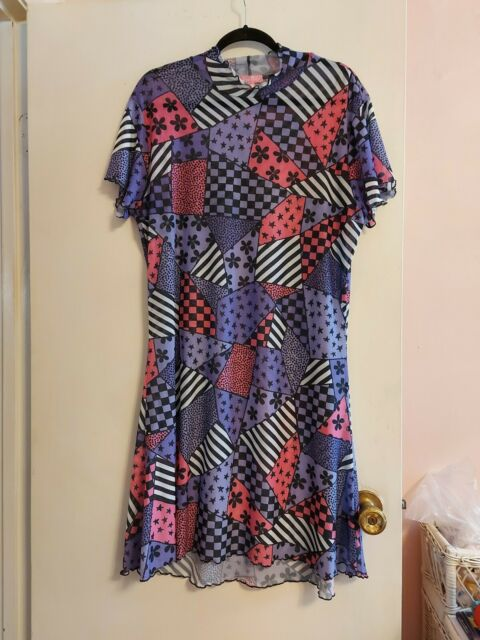 Sugar Thrillz Dolls Kill mesh patchwork doll dress 3x NWOT Goth emo alt stretch