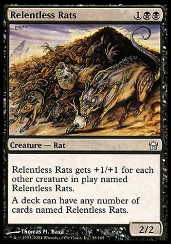 1x Relentless Rats Fifth Dawn 5th MtG Magic Black Uncommon 1 x1 Card Cards