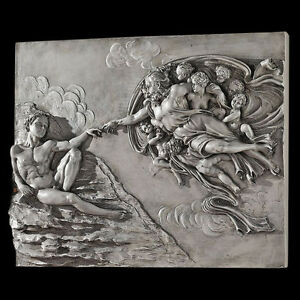 sistine chapel creation of adam wall sculpture by michelangelo ebay