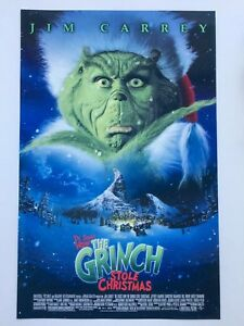 How The Grinch Stole Christmas Movie Poster.Details About Jim Carrey How The Grinch Stole Christmas 11x17 Movie Poster 2000