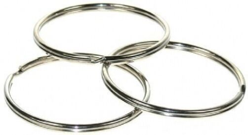 100 large heavy duty 58mm  steel split rings,premium quality,uk made,2.5