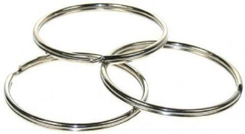 "5 large heavy duty 58mm split rings,premium quality,key holder,uk made,2.5/"""