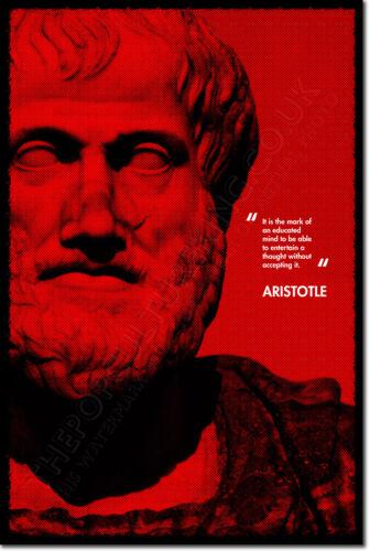 Aristóteles Arte citar Foto impresión de cartel de Regalo Etica Filosofía