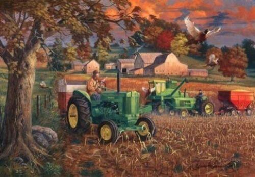 Charles Freitag Farm Pheasant John Deer Print-Bumper Crop   10 x 7