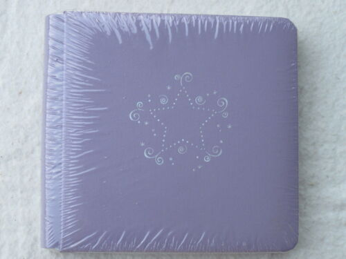 NIP LILAC with SILVER STAR Album with pages Creative Memories 7x7 PURPLE
