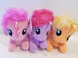 Playskool Friends My Little Pony 6-Inch Plush Lot Of 3
