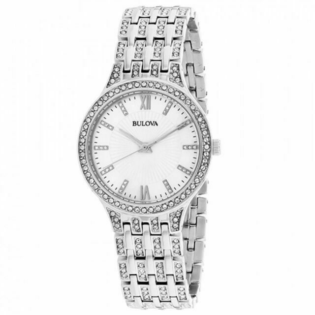 Bulova Womens 96L242 Swarovski Crystal Stainless Steel Watch