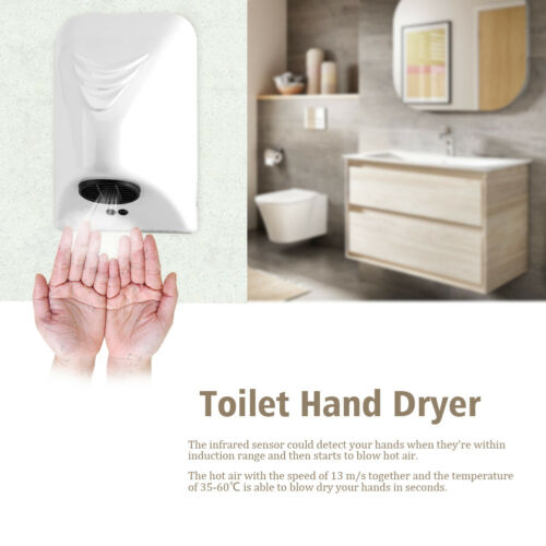 220V 1000W Intelligent Hand Dryer Wall Mounted Automatic Warm Air Drier Toilet