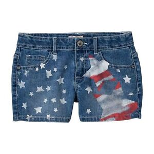 Girls SO Patriotic Big Star Shortie Stretch Denim Jean Shorts Americana Size 10