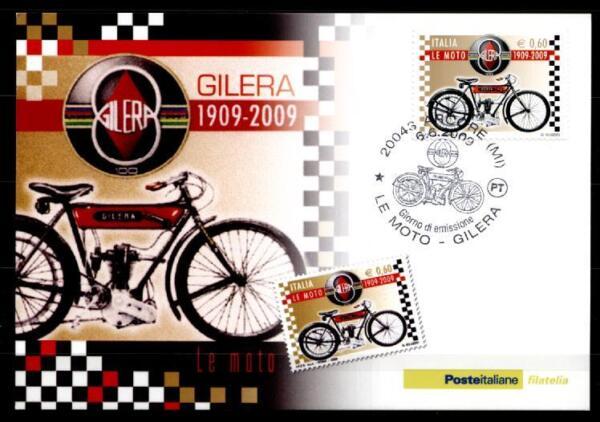 "100 Ans Motos ""gilera"". Gilera Vt 317 (1909). Maximum Carte. Italie 2007 Une Gamme ComplèTe De SpéCifications"