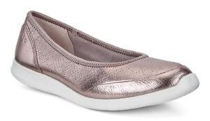 Damessensatie Slip Penpunt 38 on Ecco 7 Ballerina Warm 5 7 Grijs Metallic Flat Schoenen dXvnFOx