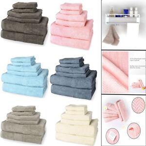 Ultra-Soft-Absorbent-Bathroom-Towel-Hotel-Towels-Set-100-Plush-Cotton-Solid