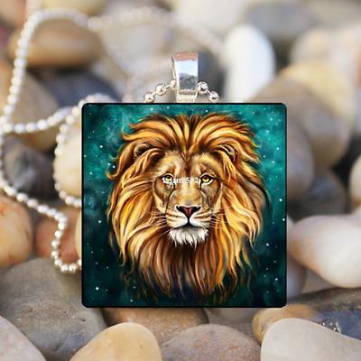 Horse Photo Animal Art Cabochon Glass Tile Chain Pendant Necklace,Tibet silver