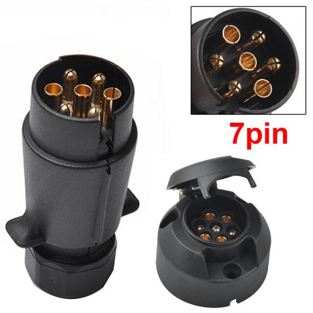 7 PINS TOWING ELECTRICS PLUG and SOCKET 12N TYPE FOR CARAVAN //TRAILER LIGHTS UK