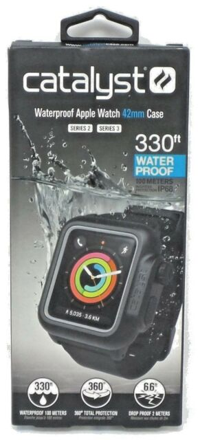 cheap for discount aa964 c7e40 Catalyst Waterproof Case for Apple Watch Series 3/series 2 Black 42mm