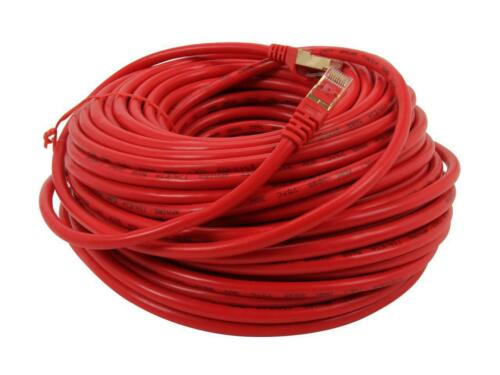 Rosewill RCNC-11048 100 ft S//STP Networking C Cat 7 Red Shielded Twisted Pair