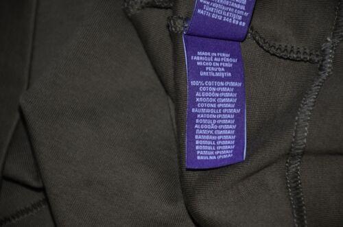Ralph Lauren Purple Label Leather Trim 100/% Cotton Half Zip Rugby Shirt