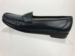 SAS-Blue-Navy-Leather-Tripad-Comfort-Slip-On-Casual-Penny-Loafers-Women-US-8-5N