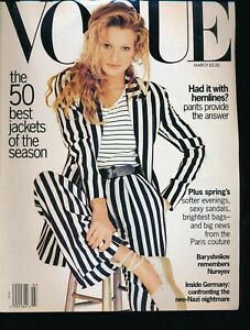 VOGUE-March-1993-Fashion-Magazine-KAREN-MULDER-Cover-by-MAX-VADUKUL-Very-Fine