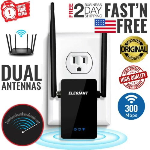US WiFi Range Extender Internet Booster Network Router Wireless Signal Repeater