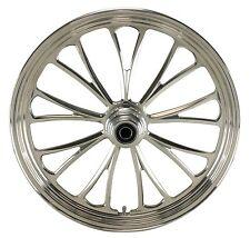 "Manhattan Polished CNC 21"" x 3.5"" Front Wheel for Harley & Custom Models"