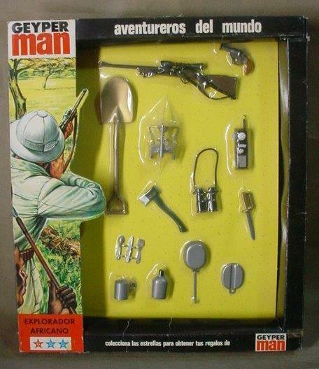 VINTAGE GI JOE GEYPER MAN (AFRICAN EXPLORER) ADVENTUROUS WORLD GEYPERMAN 1975