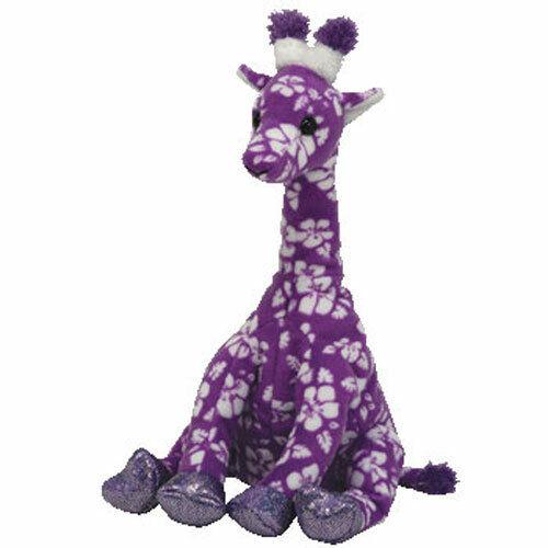 TY Beanie Baby - SUNNIE the Giraffe (Purple Version) (7 inch) -MWMTs Stuffed Toy