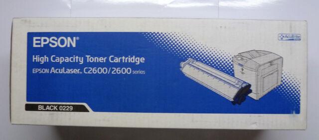 Epson Toner S050229 0229 schwarz Hohe Kapazität AcuLaser C2600 2600 Serie -- OVP
