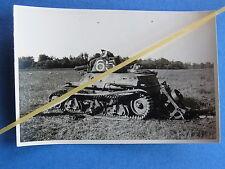 Foto Frankreich 1940 abgeschossener französischer Panzer