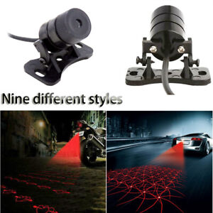 Car-Rear-Laser-Tail-Fog-Lights-Brake-Parking-Warning-Lamp-Anti-Collision
