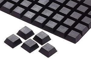 10 Gummifüße schwarz ca 1,5 mm ca 7 mm  selbstklebend 8053