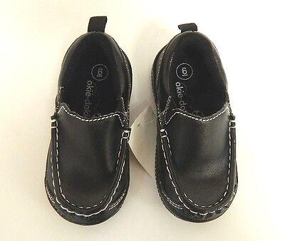 OKIE DOKIE Toddler Boys Loafer Dress Shoes Black - Size 4-10 Med U Pick Size NWT