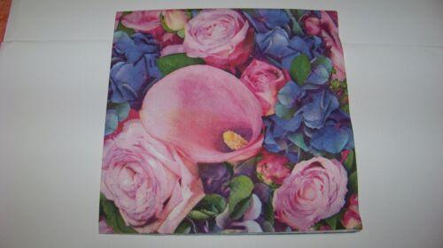 20 Servietten Blumen Frühling Calla Napkins