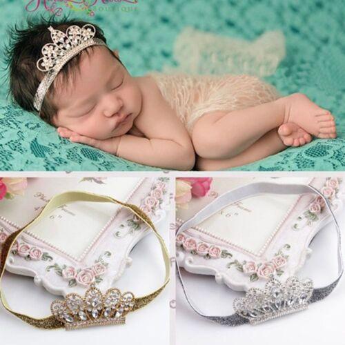 Tiara Infant Rhinestone Crown Zone Baby Hair Band Baby Headwear Hairband